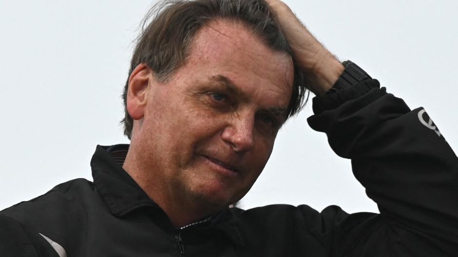Der brasilianische Präsident Jair Bolsonaro bei einem Auftritt im Mai