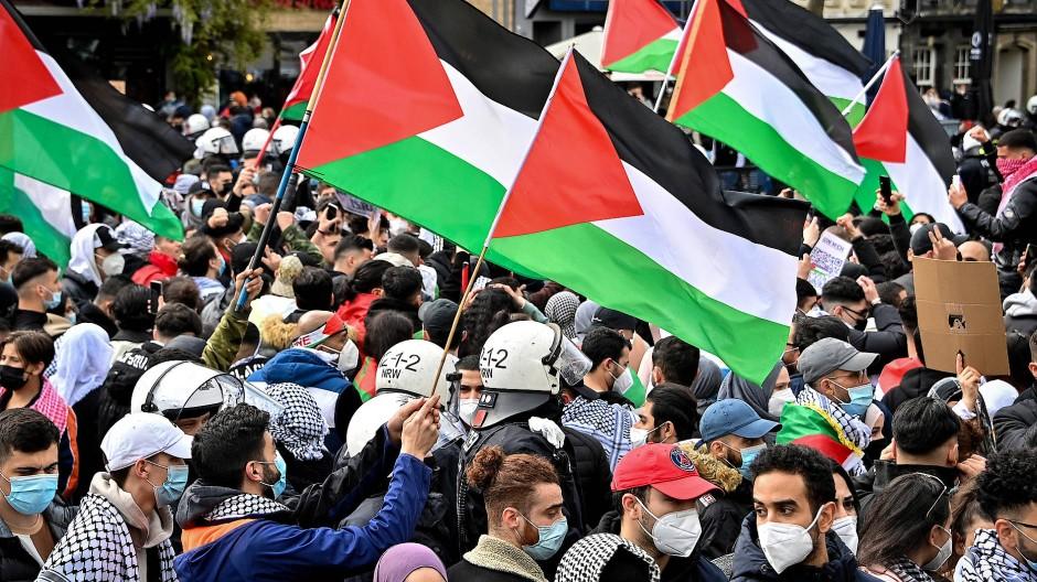 Pro-palästinensische Proteste am 15. Mai in Köln