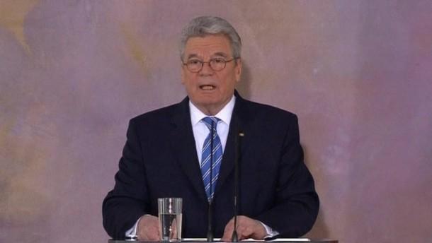 Bundespräsident Joachim Gauck hat in seiner Grundsatzrede zu Europa Ängste der EU-Partner vor einer Vormachtstellung Deutschlands zurückgewiesen.
