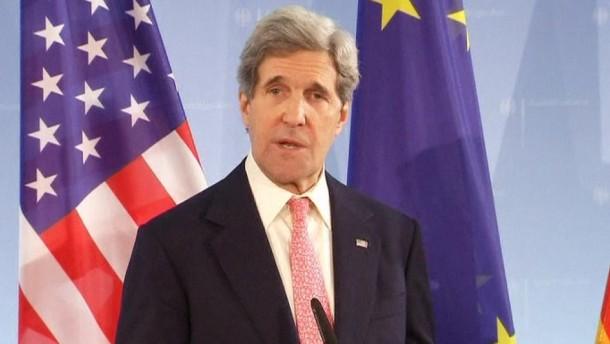 Kerry sieht das transatlantisches Freihandelsabkommen als Chance.
