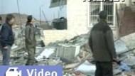 Arafat gerät ins israelische Fadenkreuz: Ehemalige Polizeistation der Autonomiebehörde