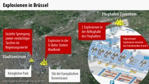 Tote bei Anschlägen auf Flughafen und U-Bahn