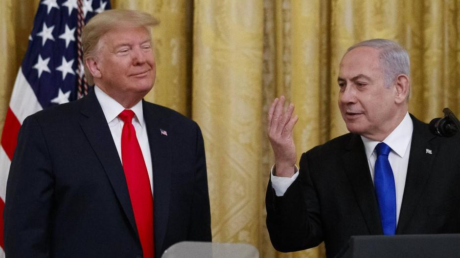 Trump und Netanjahu im Weißen Haus