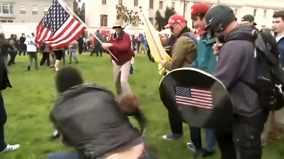 Krawalle bei Pro-Trump-Demonstrationen