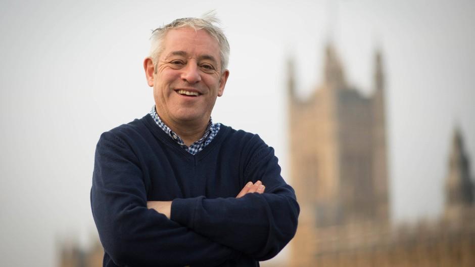 Letzter Tag im Amt: John Bercow, Präsident des britischen Unterhauses, steht am 31. Oktober 2019 vor dem Parlament.