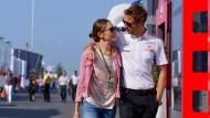 Juli 2013 auf dem Nürburgring: Jenson Button und seine heutige Ehefrau Jessica