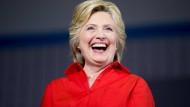 Hat wieder einen Grund zum Lachen: Hillary Clinton.
