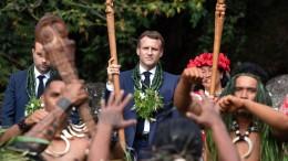 Macron sagt Französisch-Polynesien Hilfe zu