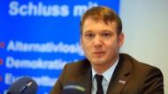 André Poggenburg hält die Berichterstattung über seine Haftbefehle für eine Medienkampagne gegen ihn.