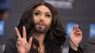 Längst nicht mehr nur ein Geheimtipp: Conchita Wurst aus Österreich. Sie ist mehr als eine Fummeltrine - ob das die Zuschauer und Juroren genauso sehen?