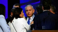 Benjamin Netanjahu am Wahlabend in Tel Aviv
