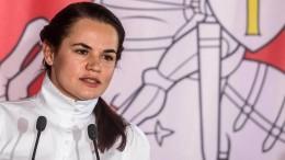 Tichanowskaja stellt Lukaschenka Straffreiheit in Aussicht