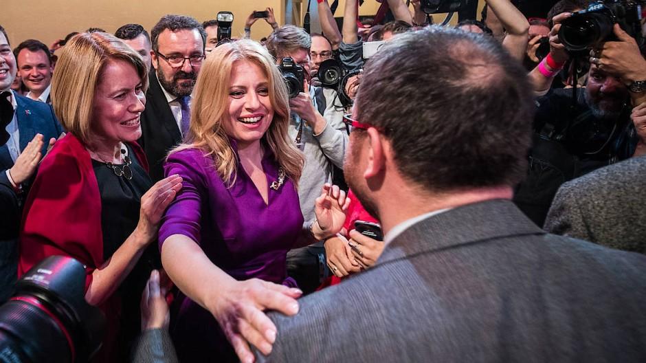 Die 45 Jahre alte Bürgeranwältin Čaputová wird die erste Präsidentin des Landes sein
