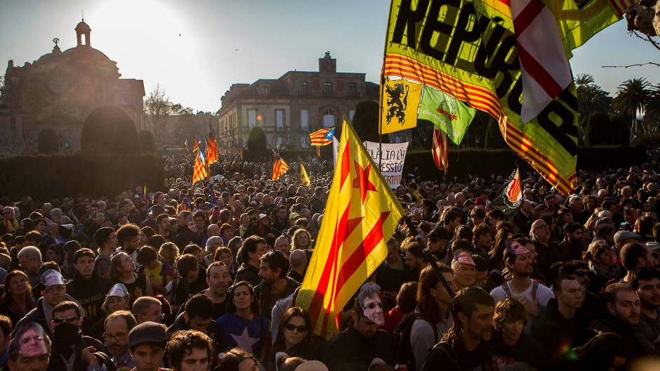 Für Katalonien: Demonstranten im Januar in Barcelona