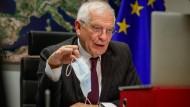 EU-Chefdiplomat Josep Borrell am 16. Dezember in Brüssel