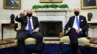 Biden empfängt Johnson: Freundliche Atmosphäre, durchwachsene Bilanz