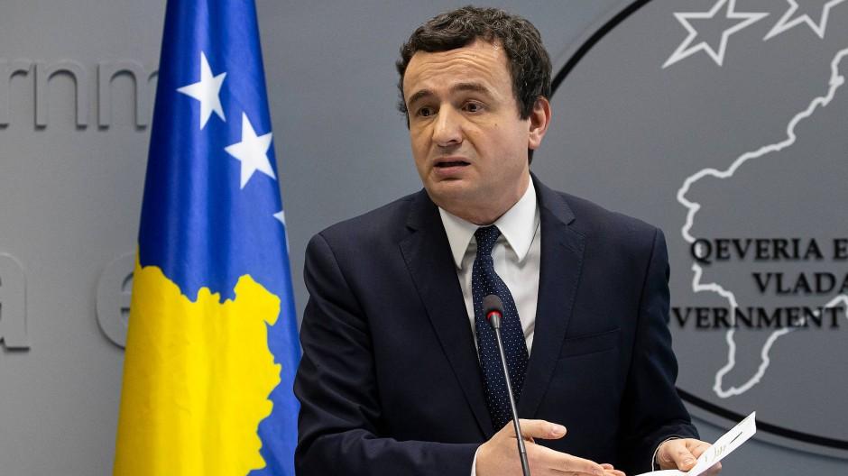 Kosovos geschäftsführender Ministerpräsident Albin Kurti im Februar in Prishtina