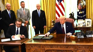 Wie Trump sich als Vermittler auf dem Balkan inszeniert