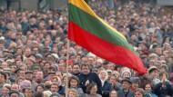 Entschlossen: Demonstration für Litauens Unabhängigkeit 1989