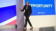 Tänzelnd zum Brexit: Premierministerin Theresa May auf dem Tory-Parteitag vergangenen Mittwoch