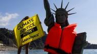 Klimawandel als Erfindung, um Amerika zu schaden? Trumps Erklärungen finden unter den Republikanern Anklang. Umweltschützer sind entsetzt.