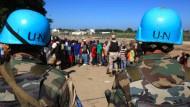 Undurchsichtiger Krieg: Als UN-Soldaten getarnt griffen Terroristen an.