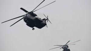 Bundeswehrhubschrauber beschossen