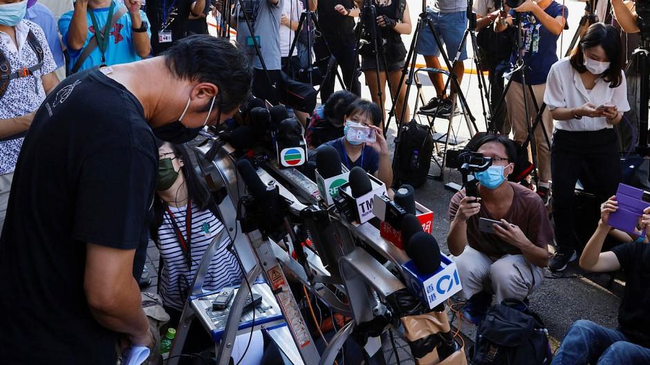 Richard Tsoi, Sekretär der Hongkonger Allianz, am Samstag in Hongkong