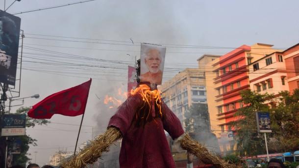 Die wachsende Wut der Bauern in Indien