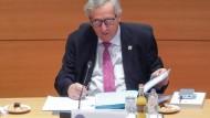 Der bisherige Kommissionspräsident Jean-Claude Juncker am Freitag in Brüssel