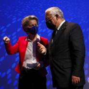 Der portugiesische Ministerpräsident António Costa und Kommissionspräsidentin Ursula von der Leyen am 15. Januar in Lissabon