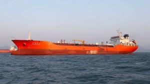 """Die """"Lighthouse Winmore"""" ist in Hongkong registriert. Sie soll Öl an nordkoreanische Schiffe geliefert haben und wurde von Südkorea beschlagnahmt."""