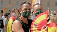 Wollen keine Gnade für Separatisten: Demonstranten in Madrid