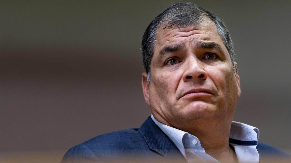Rafael Correa im Oktober 2019 in Brüssel