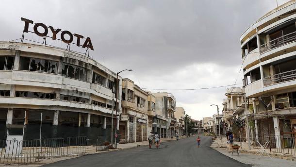 Eine Geisterstadt auf Zypern