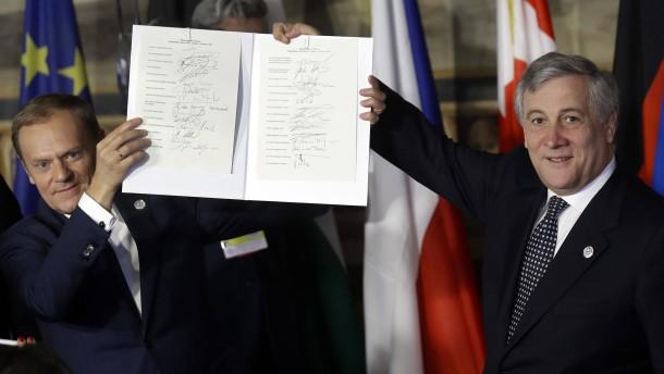 EU feiert 60. Geburtstag der römischen Verträge
