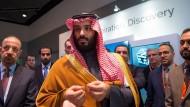 Der saudische Kronprinz Mohammad bin Salman und seine Entourage bei einem Besuch in Boston im März.