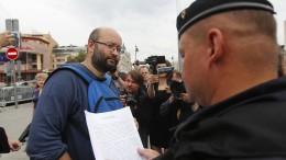 Oppositionelle in Moskau verhaftet