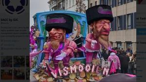 Belgische Karnevalisten zeigen Juden als Geldeintreiber