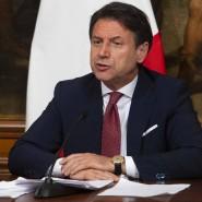 Italiens Wirtschaftsminister Roberto Gualtieri und Ministerpräsident Giuseppe Conte am Freitag in Rom