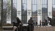 Das Gebäude des obersten polnischen Gerichts in Warschau