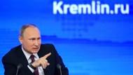 Wladimir Putin am Freitag im Kreml