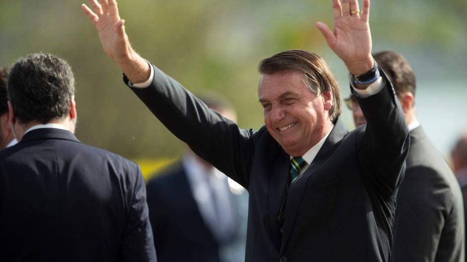 Ohne Maske: Präsident Jair Bolsonaro Ende Oktober in Brasilia
