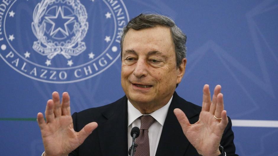 Der italienische Ministerpräsident Mario Draghi am 2. September in seinem Amtssitz in Rom.