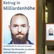 Gesucht: Jan Marsalek auf einem Fahndungsplakat in Berlin