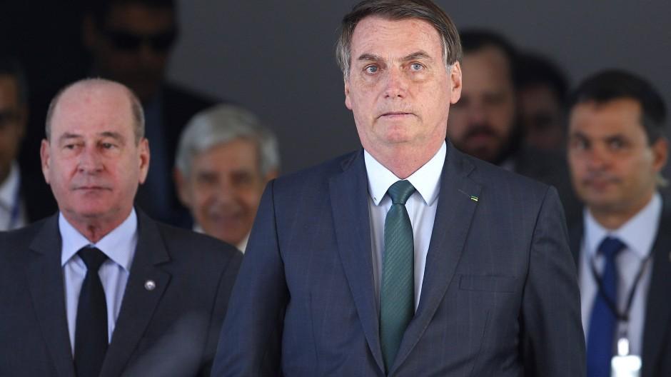 Jair Bolsonaro am Dienstag in Brasilia