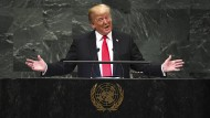 Präsident Donald Trump während seiner Rede zu den United Nations am 25. September 2018 in New York.