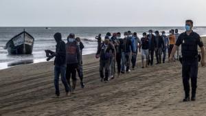 Die meisten Migranten kamen aus Nordafrika