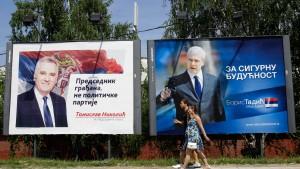 Präsident Tadic nur knapp vor Nikolic