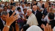 Papst Franziskus auf der letzten Station seiner Reise in Dhaka